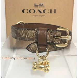 Coach XS/Small Dog or Puppy Collar Brown New